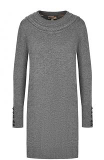 Мини-платье из смеси шерсти и кашемира Burberry