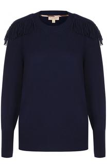 Пуловер из смеси шерсти и кашемира с бахромой Burberry