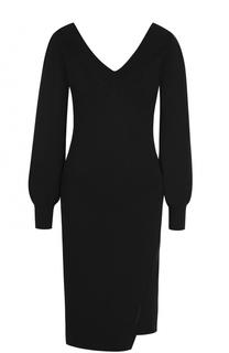 Приталенное мини-платье с V-образным вырезом Burberry
