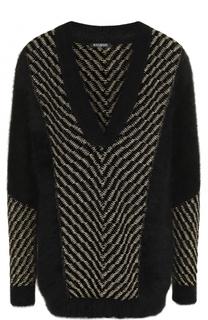 Вязаный пуловер с V-образным вырезом Balmain