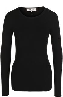 Однотонный шерстяной пуловер с круглым вырезом Diane Von Furstenberg