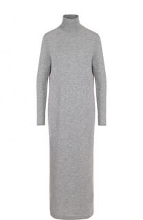 Платье-макси из смеси шерсти и кашемира с высоким воротником Allude
