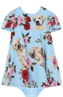 Комплект из шелкового платья и трусов Dolce & Gabbana