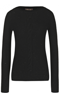 Пуловер из смеси кашемира и шелка с пайетками Loro Piana