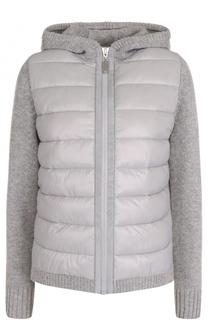Куртка из смеси шерсти и кашемира с пуховой вставкой Escada Sport