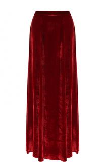Бархатная юбка-макси с высоким разрезом Alice + Olivia