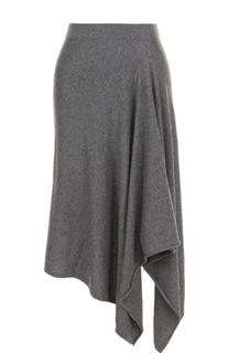 Однотонная кашемировая юбка асимметричного кроя Michael Kors