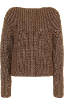 Шерстяной пуловер с круглым вырезом Michael Kors
