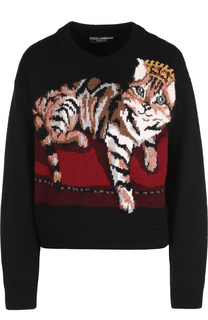Кашемировый пуловер с принтом Dolce & Gabbana
