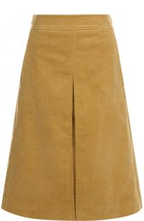 Вельветовая юбка-миди с карманами Tory Burch