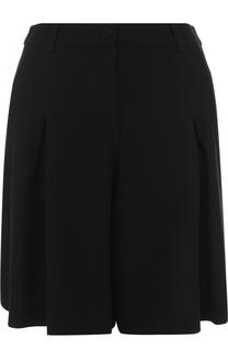 Шерстяные однотонные шорты с карманами Armani Collezioni