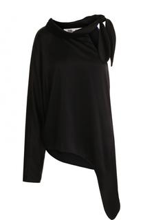 Однотонная блуза асимметричного кроя Diane Von Furstenberg