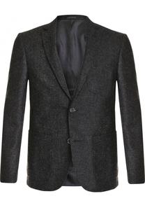 Однобортный пиджак из смеси шерсти и хлопка с кашемиром Sand