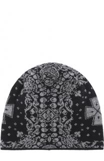 Шерстяная шапка бини с принтом Gemma. H