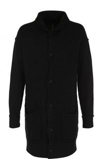 Однобортное шерстяное пальто с шалевым воротником Transit