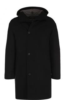 Однобортное шерстяное пальто с капюшоном Transit