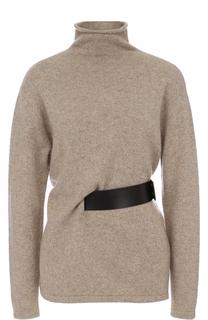 Кашемировый свитер с кожаным поясом Tom Ford