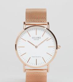 Золотисто-розовые классические часы с сетчатым браслетом Reclaimed Vintage Inspired эксклюзивно для ASOS - Серебряный