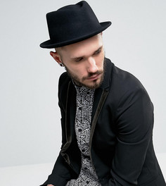 Черная шляпа с загнутыми кверху полями Reclaimed Vintage Inspired - Черный