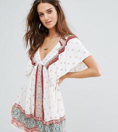 Пляжное платье с оборками на плечах Akasa - Мульти