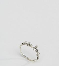 Серебряное кольцо в виде лозы с листьями Kingsley Ryan - Серебряный