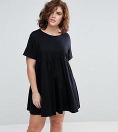 Свободное платье ASOS CURVE - Черный