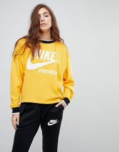 Желтый свитшот Nike Archive - Желтый