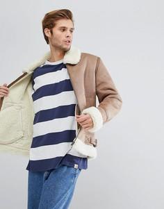 Куртка верблюжьего цвета с искусственным мехом ASOS - Бежевый