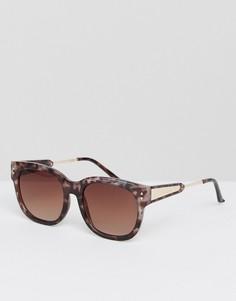 Солнцезащитные очки в черепаховой оправе River Island - Фиолетовый