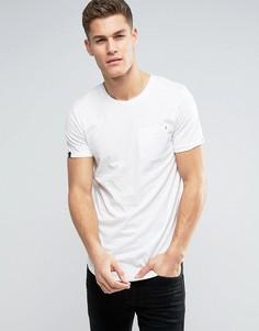 Удлиненная футболка с карманом Produkt - Белый