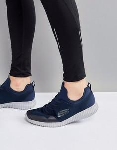 Синие кроссовки Skechers Elite Flex Lasker - Синий