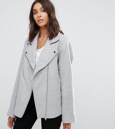 Байкерская куртка в деловом стиле ASOS TALL - Серый