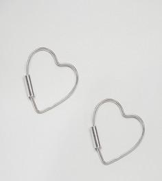 Серебряные серьги в форме сердечек Kingsley Ryan - Серебряный