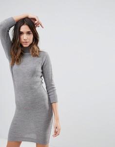 Платье-джемпер с воротником поло Brave Soul - Серый