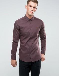 Облегающая рубашка с воротником на пуговицах Farah - Красный