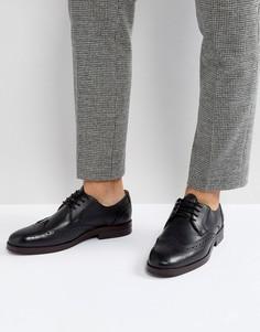 Черные кожаные броги Hudson London Osney - Черный
