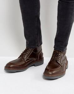 Кожаные ботинки на шнуровке H London Wycombe - Коричневый