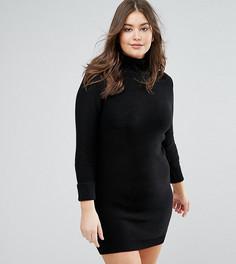Платье-джемпер с воротником поло Brave Soul Plus - Черный