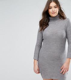 Платье-джемпер с воротником поло Brave Soul Plus - Серый