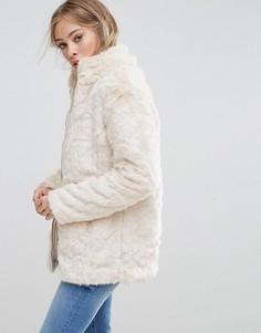 Куртка из искусственного меха b.Young - Кремовый