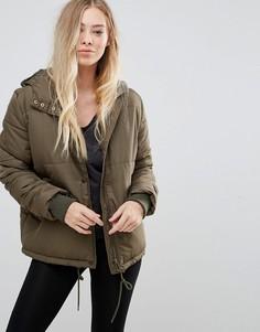 Короткая дутая куртка b.Young - Зеленый