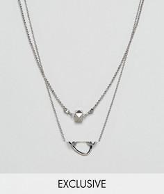 2 ожерелья DesignB эксклюзивно для ASOS - Серебряный