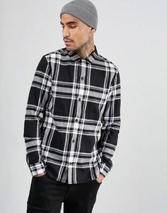 Узкая рубашка в клетку AllSaints - Черный