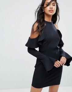Платье мини с оборкой Free People Sweet Talk - Черный