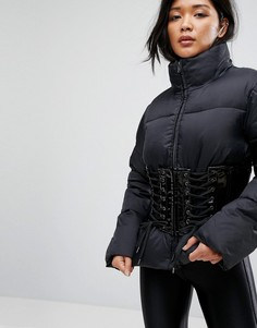 Дутая куртка с корсетом ASOS - Черный