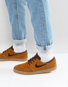 Коричневые кроссовки Nike SB Zoom Stefan Janoski 333824-214 - Коричневый