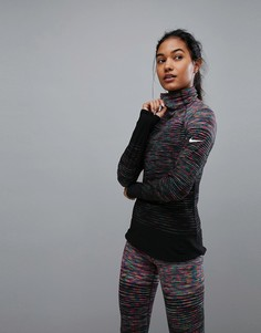 Топ в полоску Nike Training Hyperwarm - Мульти