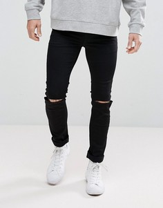 Черные джинсы скинни из переработанного денима Cheap Monday C/O - Черный