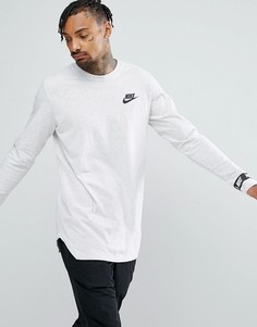Белая футболка с длинными рукавами и логотипом Nike 888422-051 - Белый