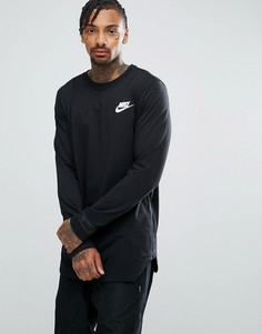 Черная футболка с длинными рукавами и логотипом Nike 888422-010 - Черный